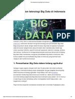 Pemanfaatan Teknologi Big Data Di Indonesia