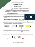 Examen Psicotecnicos Subinspector 2015