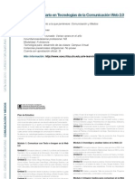 COMUNICACION Y MEDIOS - Experto Universitario en Tecnologías de la Comunicación Web 2.0