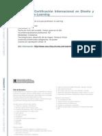 E-LEARNING -  Programa de Certificación Internacional en Diseño y Desarrollo de e-Learning