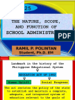 thenaturescopeandfunctionofschooladministration2-121015035147-phpapp02