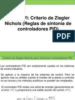 Unidad Vi Criterio de Ziegler y Nichols