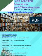 PPA 403 MASTER Education Expert/ppa403master.com