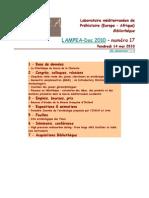 LAMPEA-Doc 2010 – numéro 17 / Vendredi 14 mai 2010