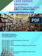 PRG 420 GENIUS Education Expert/prg420genius.com