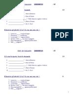 Test Di Italiano Lezione 1-3