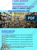 PSY 103 ASSIST Education Expert/psy103assist.com