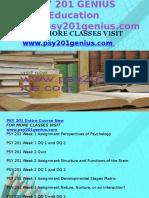 PSY 201 GENIUS Education Expert/psy201genius.com
