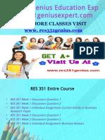 RES 351 Genius Education Expert/res351geniusexpert.com
