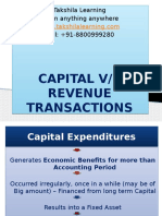 Capital vs Revenue Transactions