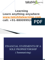 Final Accounts of a Sole proprietorship business