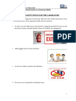 General Safety Rules for the Laboratory