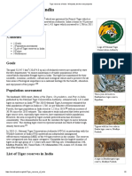 Tiger Reserves of India - Wikipedia, The Free Encyclopedia
