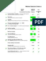 Webinar Service Selection Matrix