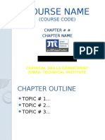 Sample Template for Lectures