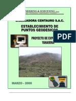 Informe Geodesico - YANAMINA
