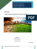 Cambio Climático y Sus Implicancias en El Hombre