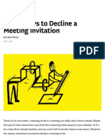 Polite Ways to Decline a Meeting Invitation