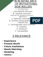 ARCS Model of Motvational Design