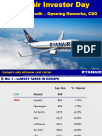 Ryanair Raises Its Growth Plans From 100m to 110m Pax by Mar 2019 Presentation