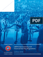 UEFA Licensing conditions and Financial Fair Play Rules