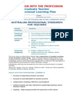 at1 part b - professional learning plan