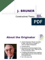 Constructivist Theory by J. Bruner