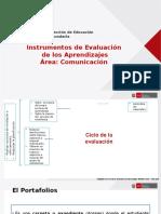 PORTAFOLIO Instrumentos de EvaluacionCOMUNICA220116.pptx