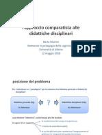 l'approccio comparatista alle didattiche disciplinari_Dottorato Urbino