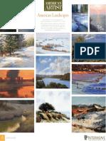 American Artist Landscapes Calendar 2011