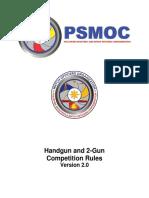 Final PSMOC Handgun and 2 Gun Rules Version 2.0
