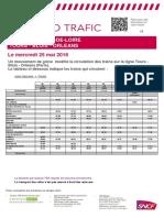 Prévisions SNCF du 25/05/2016