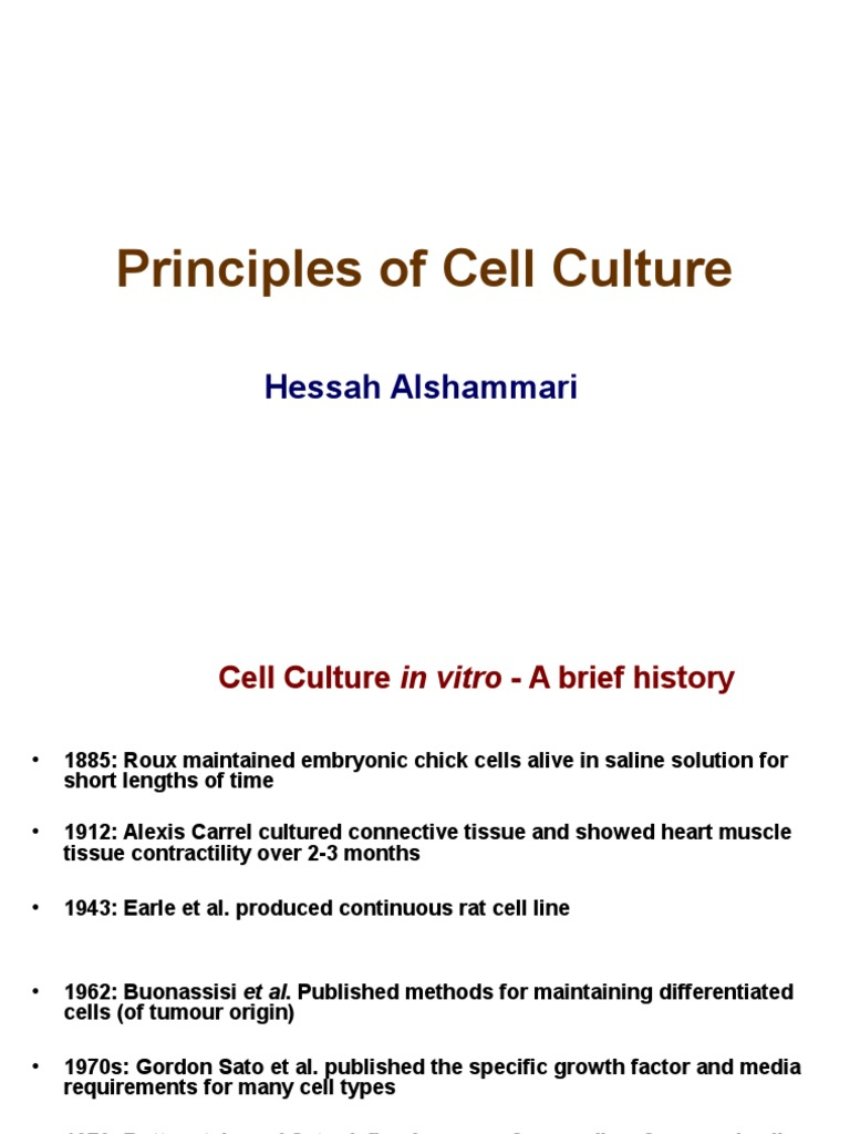 Principles of Cell Culture | Cell Culture | Growth Medium