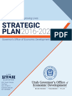 Utah Economic Development, Strategic Plan 2016-2020