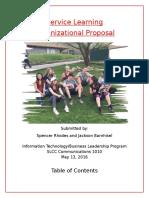 organizational proposal title