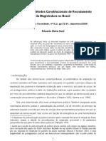 Democracia  e Métodos Constitucionais de Recrutamento da Magistratura no Brasil