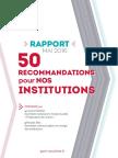 Le rapport du PS sur les institutions (mai 2016)