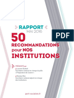 Le rapport du PS sur les institutions (mai 2016)