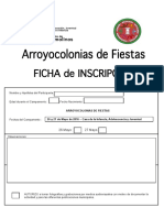 Inscripción Arroyocolonias Fiestas 2016