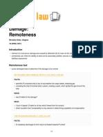 Remoteness of Damage