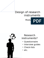 Module 10B - Design of research instruments YM.ppt