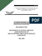 PA Auditor General ChildLine Interim Report