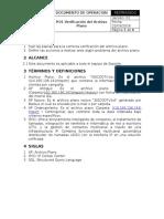 Procedimiento Verificación Del Archivo Plano