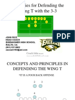 13861649 Strategies for Defending the Wing T With the 33 John Rice