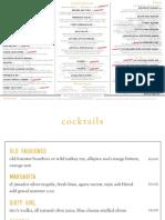 WESTROOT tavern menu