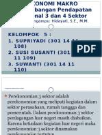 Presentasi Perekonomian 3 Atau 4 Sektor