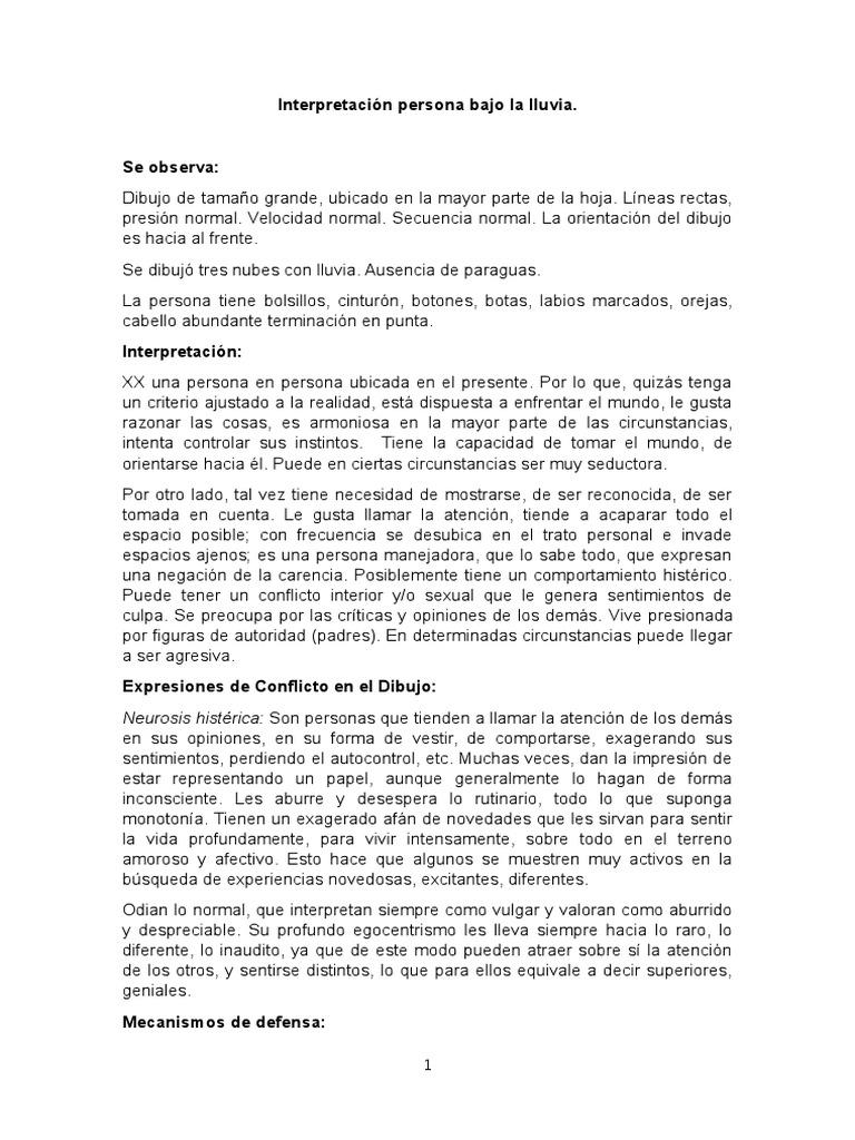 Ejemplo Interpretacion Persona Bajo La Lluvia