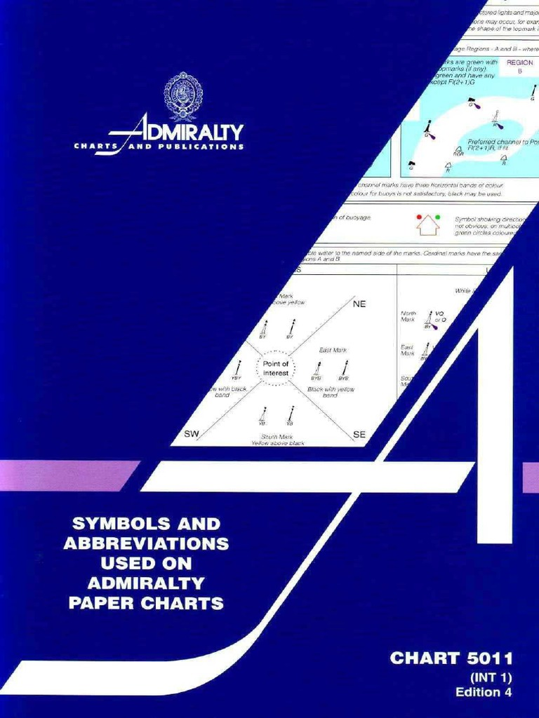 Chart 5011  Symbols And Abbreviations Used On Admiralty