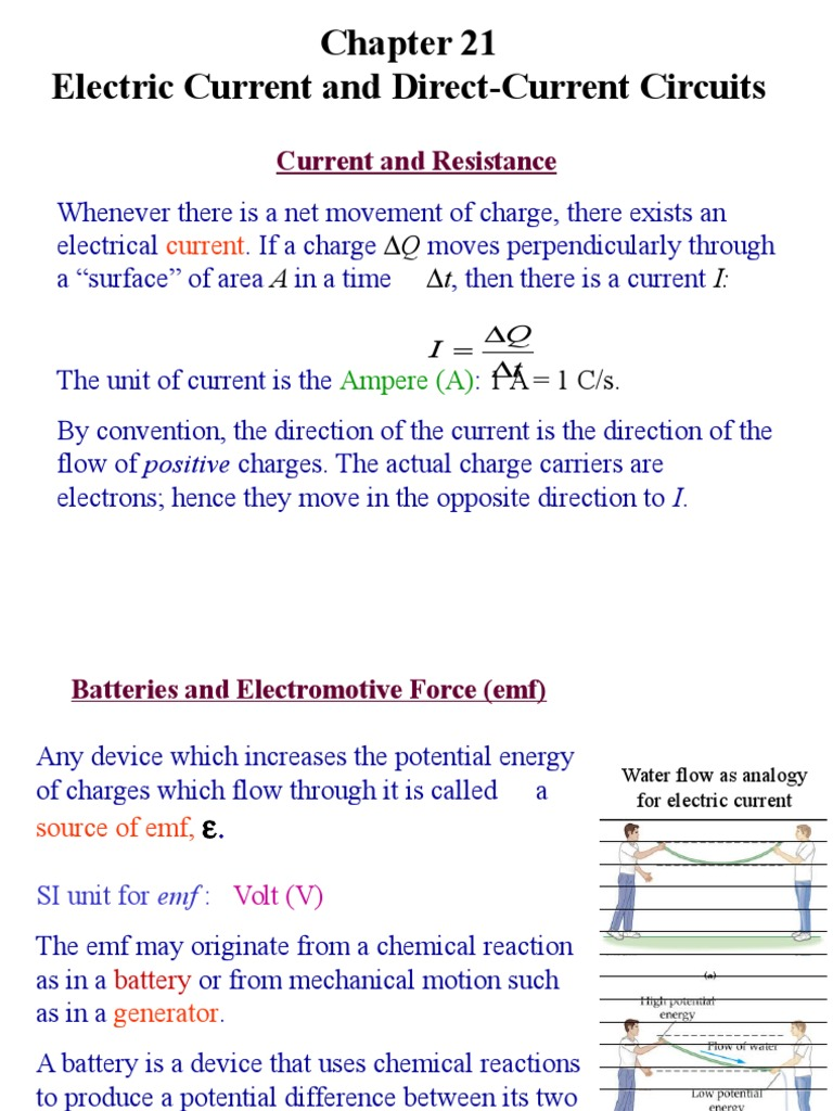 Current Electric Series And Parallel Circuits The From A Battery Is Direct