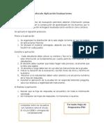 Protocolo Aplicación